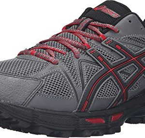 ASICS Men's Gel-Kahana 8 Trail Runner, Shark/Black/True Red