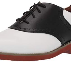 School Issue Upper Class (Adult), White/Black Leather