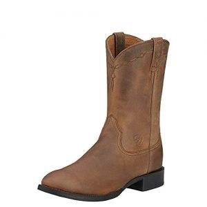 Ariat Men's Heritage Roper Western Cowboy Boot, Distressed Brown