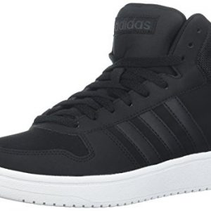 adidas Men's Hoops 2.0 Mid Sneaker, Black/Carbon