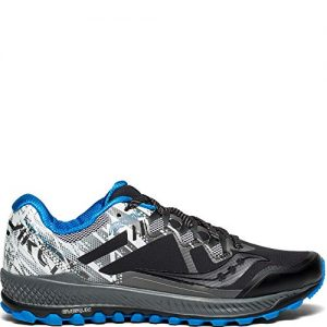 Saucony Men's Peregrine 8 ICE+ Sneaker, Black/White