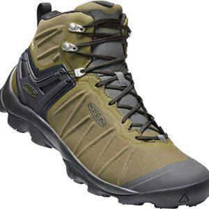 KEEN - Men's Venture Mid Waterproof Hiking Boot, Dark Olive/Raven, 10 US