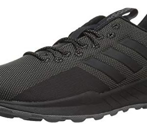 adidas Men's Questar Trail Running Shoe, Black/Black/Grey