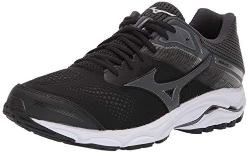 Mizuno Men's Wave Inspire 15 Running Shoe, Black-Dark Shadow, 11 D US