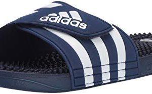 adidas Adissage, White/Dark Blue
