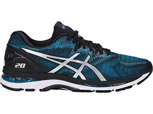 ASICS Men's Gel-Nimbus 20 Running Shoe, Island Blue/White/Black, 11 Medium US