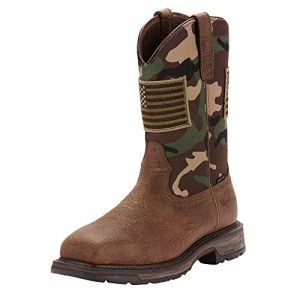 ARIAT Men's Workhog Patriot Steel Toe Work Boot Earth