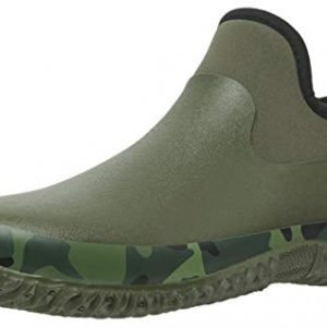 Tengta Unisex Waterproof Garden Shoes Womens Rain Boots Mens Car Wash Footwear Army Green, 12 M US WOMEN / 10.5 M US MEN
