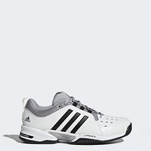 adidas Barricade Classic Wide 4E Tennis Shoe,White/Core Black/Mid Grey