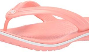 Crocs Crocband Flip Flop, melon/white, 8 US Men/ 10 US Women M US