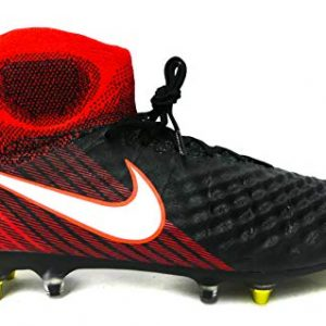Nike Mens Magista Obra II SG-Pro Anti-Clog Soft Ground Cleat - (Black/White/Crimson) (9.5)