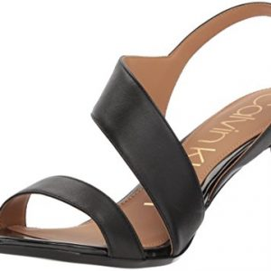 Calvin Klein Women's Lancy Heeled Sandal, Black, 11 Medium US