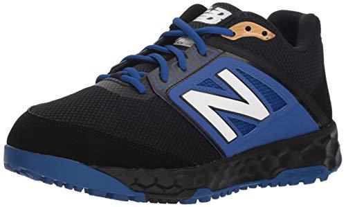 New Balance Men's Turf Baseball Shoe, Black/Blue