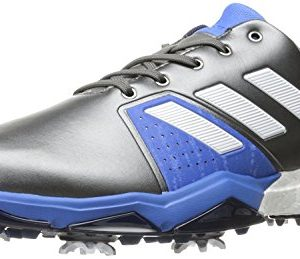 Adidas Men's Adipower Boost 3 Golf Shoe, Dark Silver Metallic/White/Blast Blue, 8.5 M US