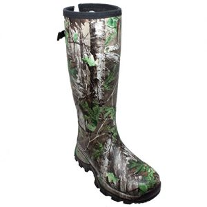 "TECS Men's 17"" Rubber Boots: Neoprene, Fleece Lining, Waterproof for Hunting"