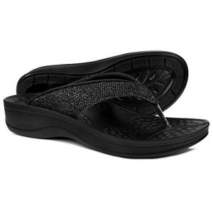 AEROTHOTIC Comfortable Arch Support Flip Flops for Women