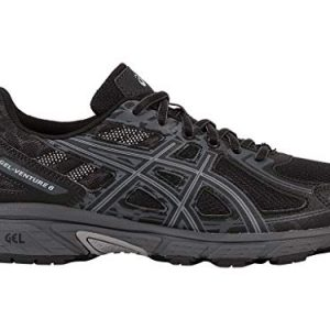 ASICS Mens Gel-Venture 6 Running Shoe, Black/Phantom/Mid Grey