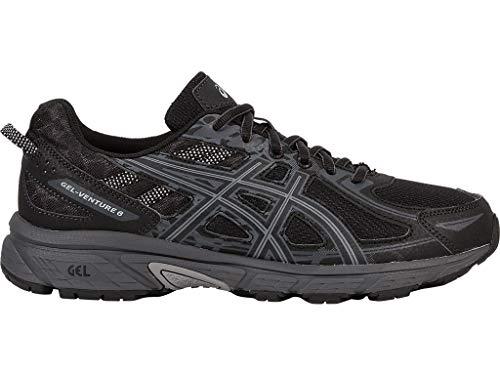 ASICS Mens Gel-Venture 6 Running Shoe, Black/Phantom/Mid Grey