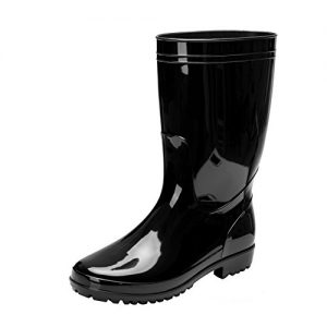 Comwarm Men Waterproof Snow Rain Boots Anti-Slip PVC Black