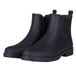 UNICARE Men's Chelsea Rain Boots Waterproof Slip on Shoes Nonslip