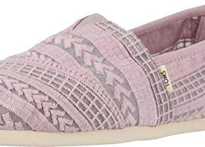 TOMS Women's Alpargata Burnished Lilac Arrow Embroidered Mesh