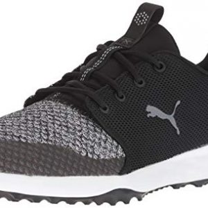 Puma Golf Men's Grip Fusion Sport Golf Shoe, puma Black-Quiet Shade, 10.5 M US