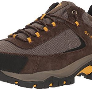 Columbia Men's Granite Ridge Hiking Shoe, Mud, Golden Yellow