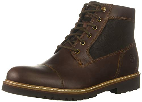Rockport Men's Marshall Rugged Cap Toe Boot, saddle brown