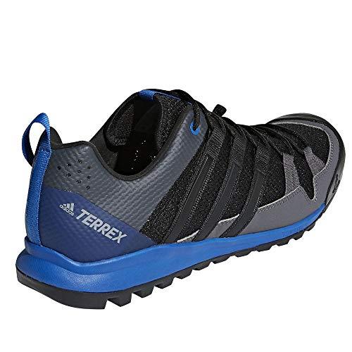 adidas outdoor Men's Terrex Solo Black/Black/Blue Beauty adidas outdoor Men's Terrex Solo Black/Black/Blue Beauty 11 D US.