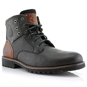 Polar Fox Homer Mens Casual Work Lace Up Classic Motorcycle Combat Boots