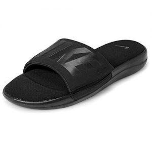 Nike Men's Ultra Comfort 3 Slide, Black/Black-Dark Grey (US 12)