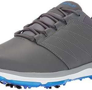 Skechers Men's Pro 4 Waterproof Golf Shoe, Gray/Blue