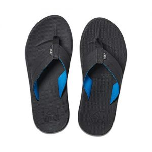 REEF Men's Sandals Element TQT, Black/Light Blue