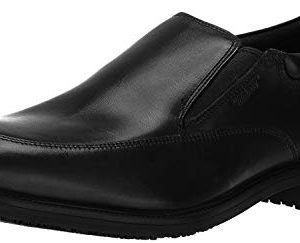 Rockport Men's Lead the Pack Slip-On Black WP Leather