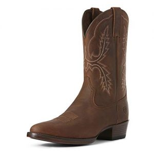 ARIAT Men's Bar Sour Western Boot Distressed Brown Size 10.5 Ee/Wide Us