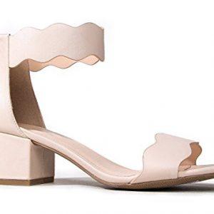 J. Adams Open Toe Ankle Strap Sandal, Nude PU