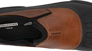 CLARKS Men's Bowman Free Rain Shoe, Dark tan Leather