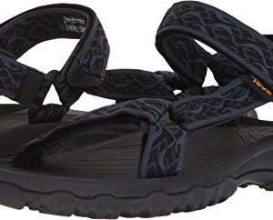 Teva Men's M Hurricane 4 Sport Sandal, Wavy Trail Navy