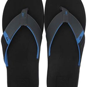 REEF Men's Ortho-Bounce Sport Sandal, Black/Blue