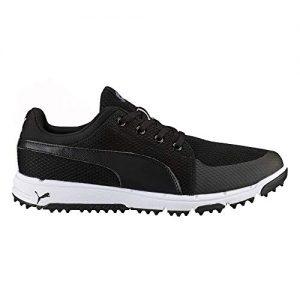PUMA Men's Grip Sport Tech Spikeless Mesh Golf Shoe, 10 Medium Black