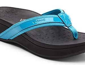 Vionic Women's Pacific High Tide Toepost Sandals - Ladies Mid Heel Flip Flops