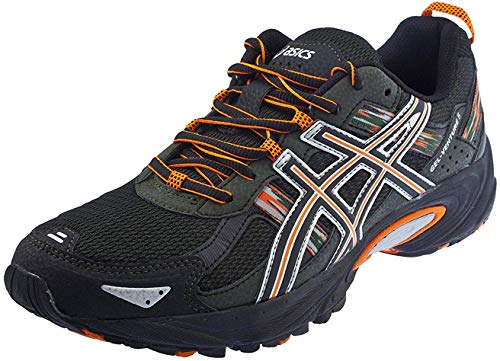 ASICS Men's Gel Venture 5 Running Shoe (12 D(M) US, Black/Shocking Orange/Duffel Bag)