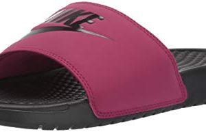 Nike Women's Benassi Just Do It Sandal, True Berry/Burgundy ash