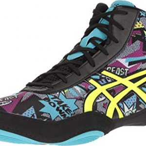 ASICS Men's JB Elite V2.0 Wrestling Shoe, Comic/Flash Yellow/Blue Alt