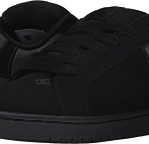DC Men's Court Graffik SE Skate Shoe,Black Destroy Wash