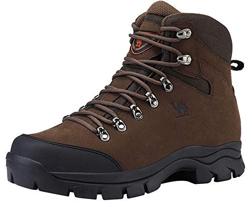 CAMEL CROWN Mens Hiking Boots Outdoor Trekking Backpacking Boot