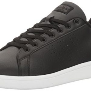adidas Men's Cloudfoam Advantage Clean Sneakers, Black/Black/White