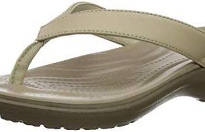 Crocs Women's Capri V Flip Flop, Chai/Walnut