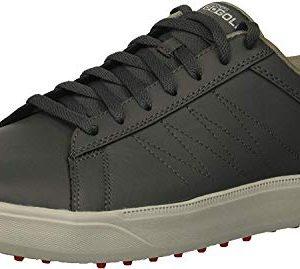 Skechers Men's Drive 4 Golf Shoe, Charcoal/red