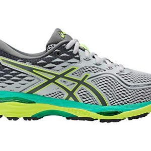 ASICS Womens Gel-Cumulus 19 Running Shoe, Mid Grey/Carbon/Safety Yellow